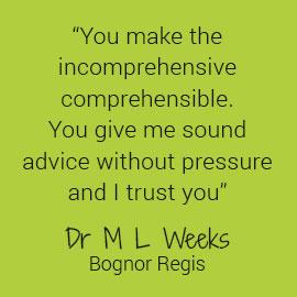 Dr Weeks Testimonial